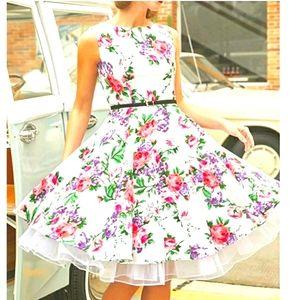 NWOT Grace Karin Vintage Style Floral Fit …